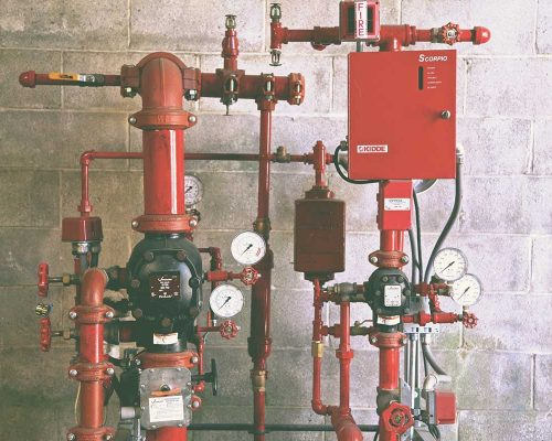 Fire Sprinkler System.
