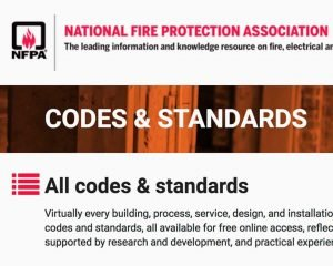 NFPA Codes Standards 2018.