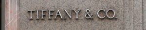 Tiffany and co. logo on a building